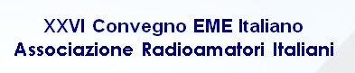 XXVI Convegno EME Italiano